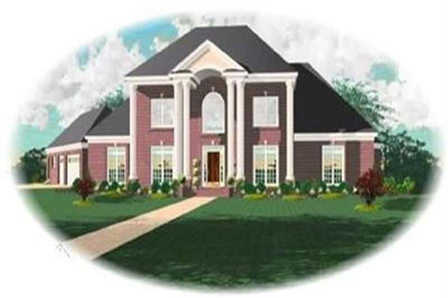 4-Bedroom, 3710 Sq Ft Colonial Home Plan - 170-3288 - Main Exterior