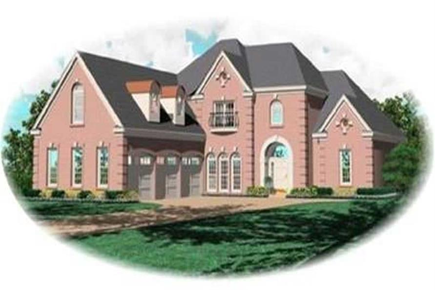 4-Bedroom, 3397 Sq Ft Contemporary Home Plan - 170-3289 - Main Exterior