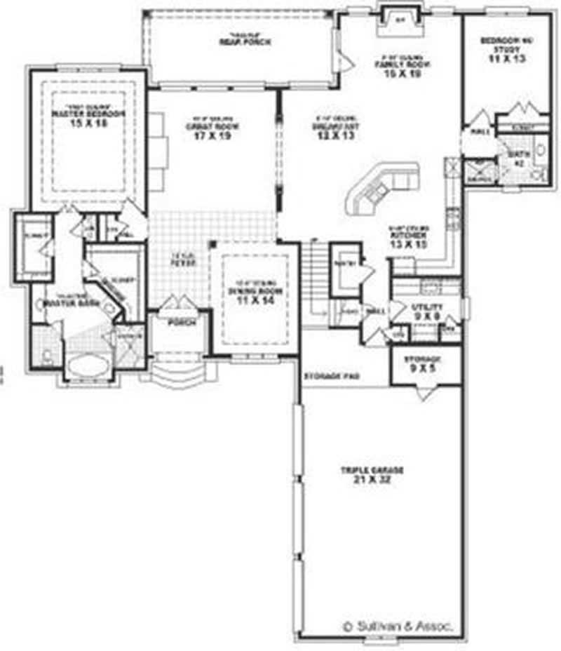 French European House Plans Home Design Su1854 8411