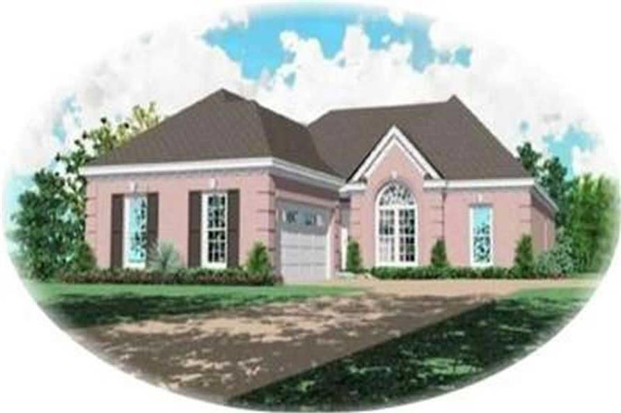 4-Bedroom, 1806 Sq Ft Contemporary House Plan - 170-3296 - Front Exterior