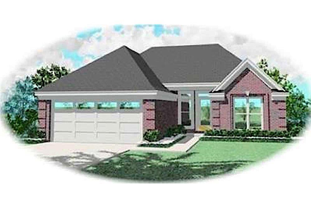 Contemporary home (ThePlanCollection: House Plan #170-3299)
