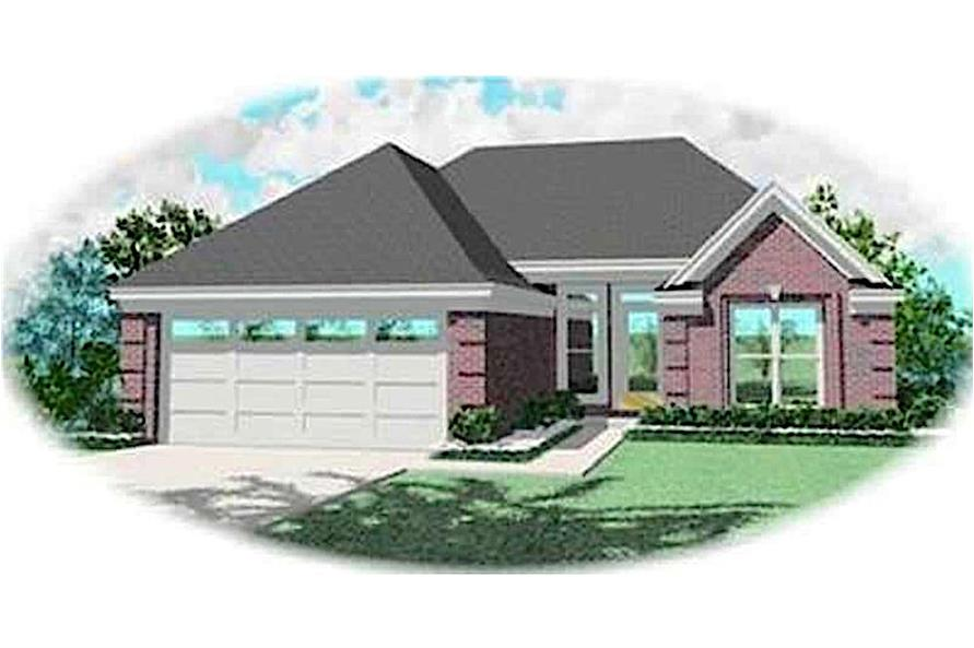 3-Bedroom, 1200 Sq Ft Contemporary Home Plan - 170-3299 - Main Exterior
