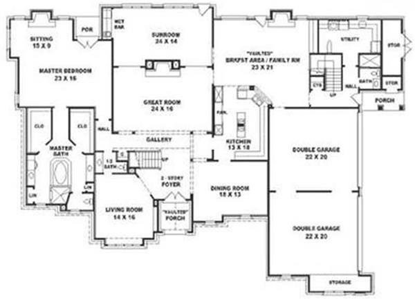 Luxury Modern Mansion Floor Plans