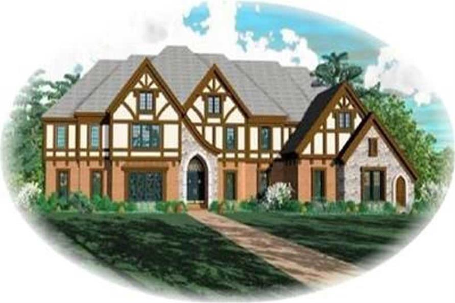 Contemporary Luxury Tudor House Plans Home Design SU1749 8413