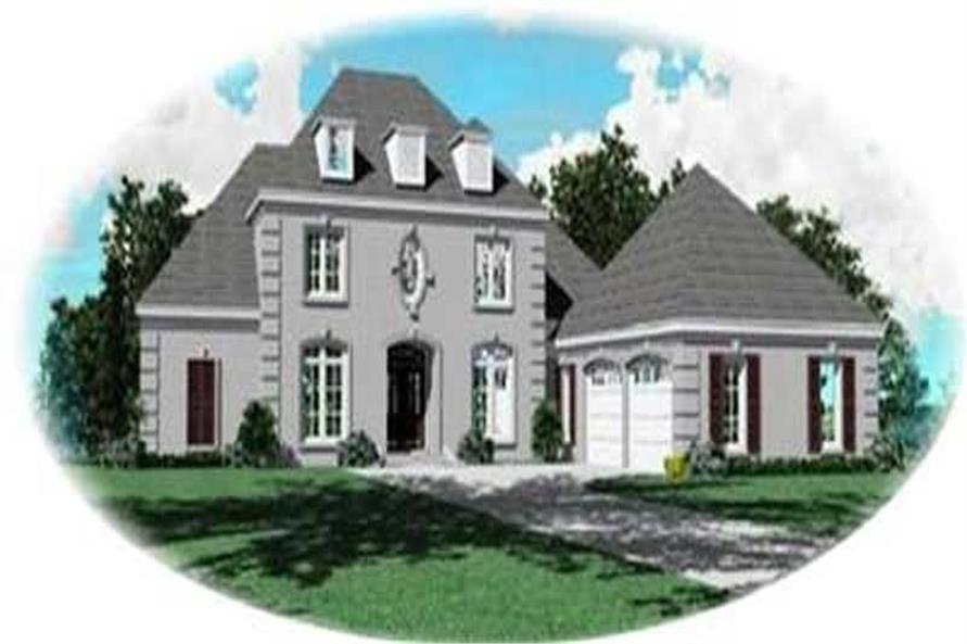 4-Bedroom, 3543 Sq Ft Colonial Home Plan - 170-3308 - Main Exterior