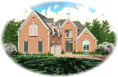 3-Bedroom, 3587 Sq Ft French House Plan - 170-3313 - Front Exterior