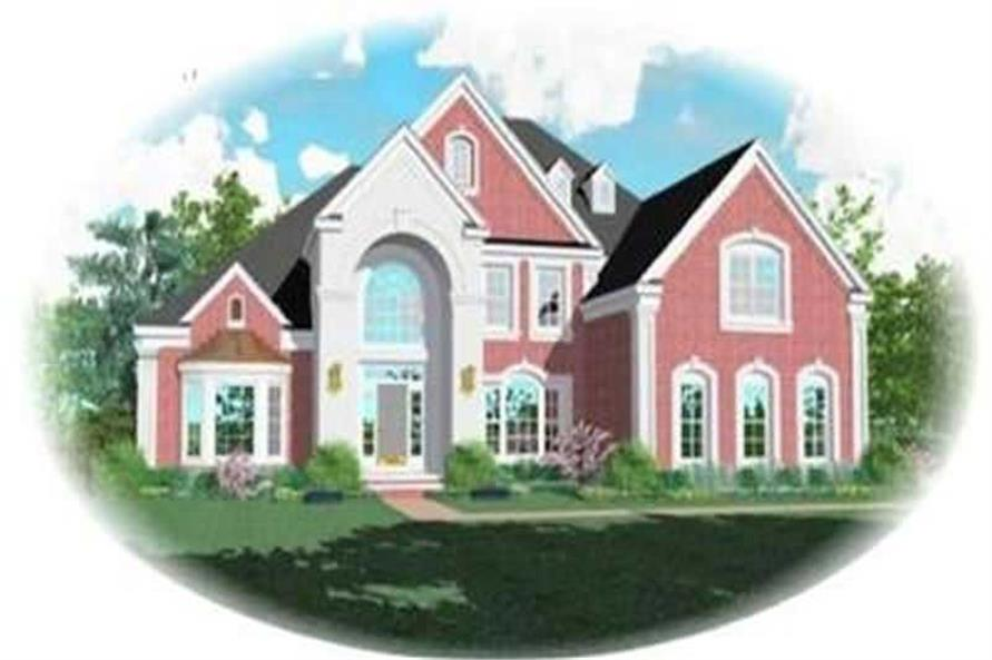 4-Bedroom, 4110 Sq Ft Colonial House Plan - 170-3319 - Front Exterior