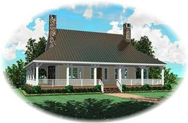 3-Bedroom, 2207 Sq Ft Country House Plan - 170-3321 - Front Exterior