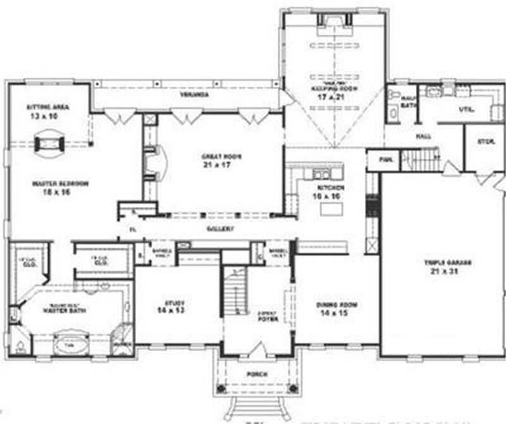 Colonial House Plans: Southern, Luxury, Colonial House Plans