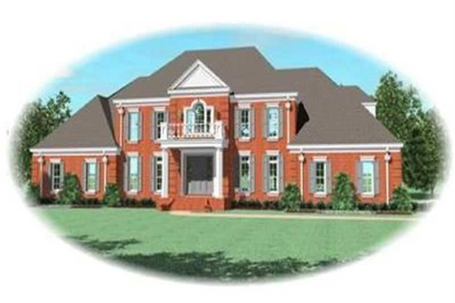 4-Bedroom, 5245 Sq Ft Colonial House Plan - 170-3323 - Front Exterior