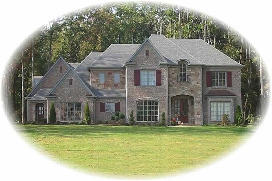 4-Bedroom, 4005 Sq Ft French Home Plan - 170-3340 - Main Exterior
