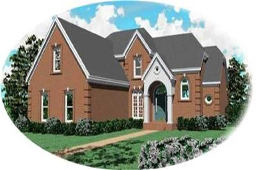 3-Bedroom, 3258 Sq Ft Contemporary House Plan - 170-3344 - Front Exterior