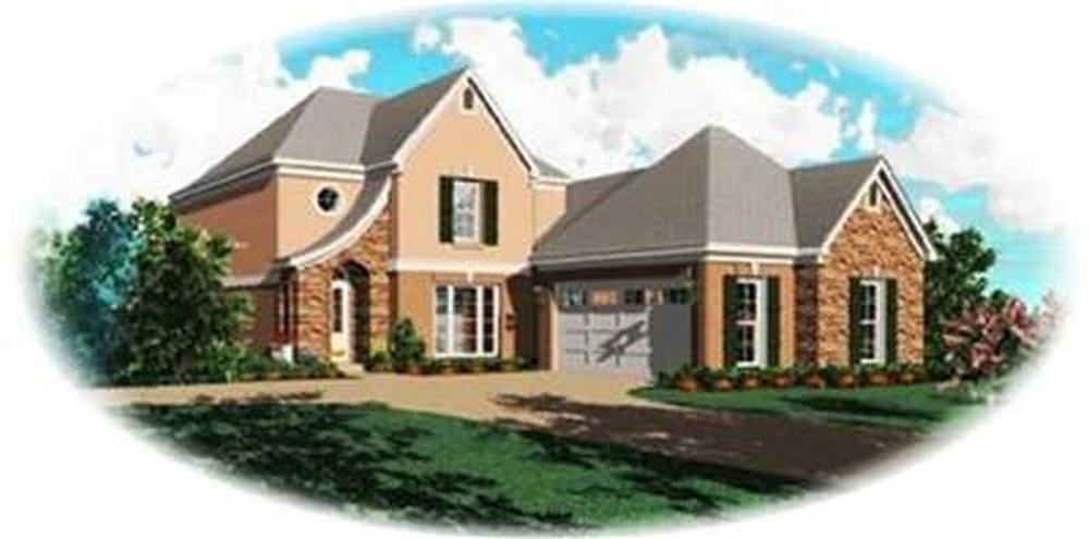 Contemporary home (ThePlanCollection: Plan #170-3345)