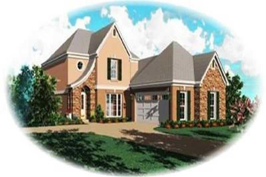 4-Bedroom, 2508 Sq Ft Contemporary Home Plan - 170-3345 - Main Exterior