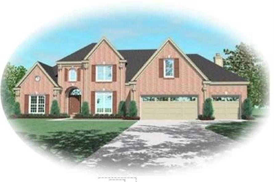 4-Bedroom, 3115 Sq Ft Contemporary Home Plan - 170-3349 - Main Exterior