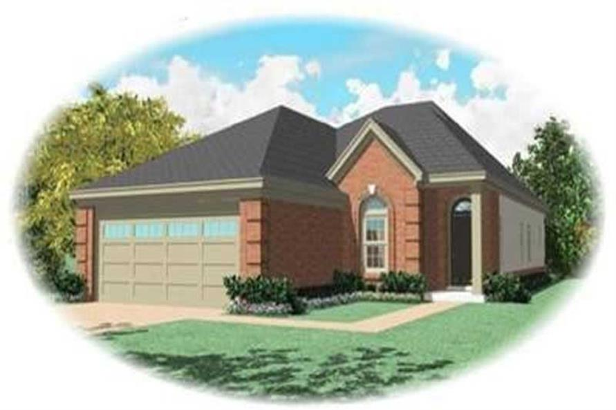 3-Bedroom, 1692 Sq Ft Bungalow Home Plan - 170-3355 - Main Exterior