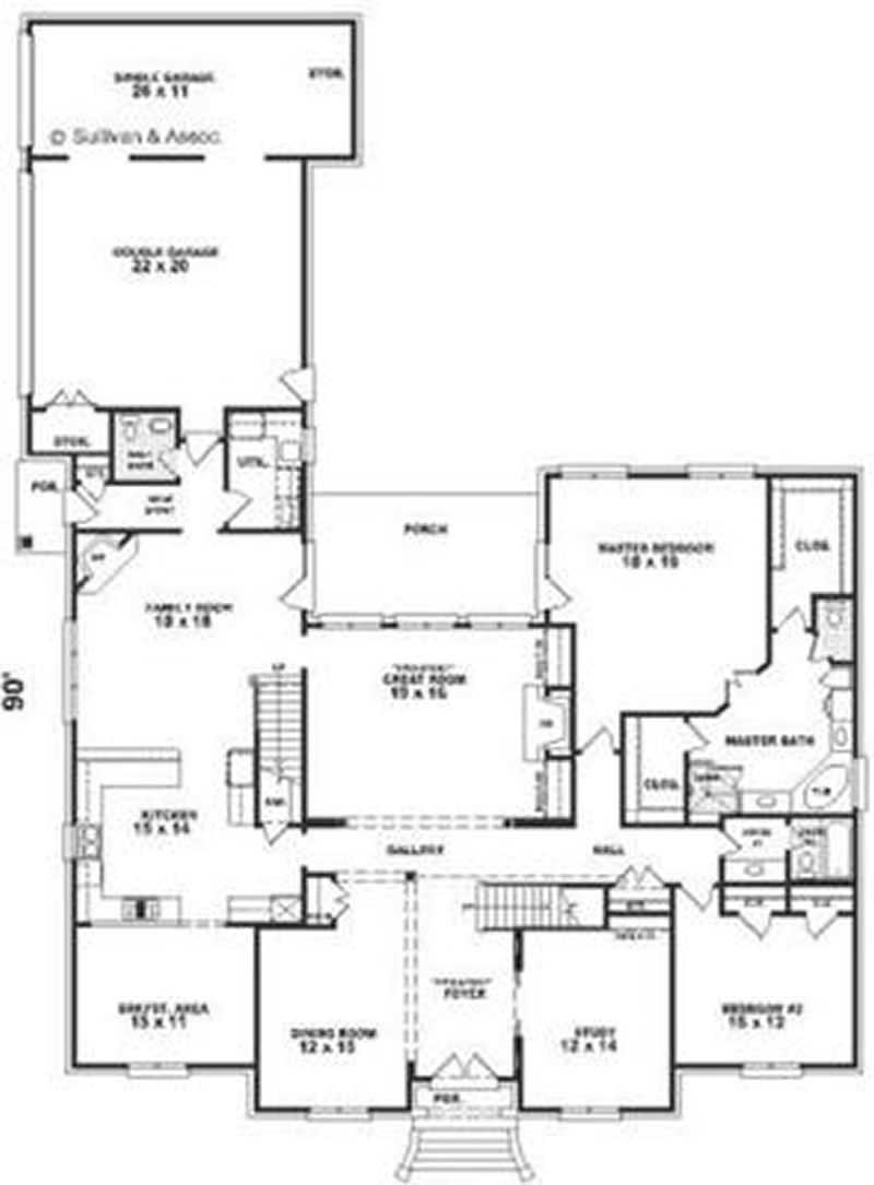 European french house plans home design su1746 8380 for Floor plan in french