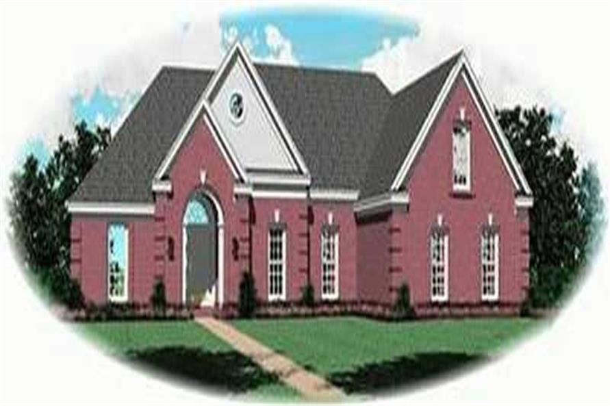 3-Bedroom, 1867 Sq Ft Contemporary House Plan - 170-3358 - Front Exterior