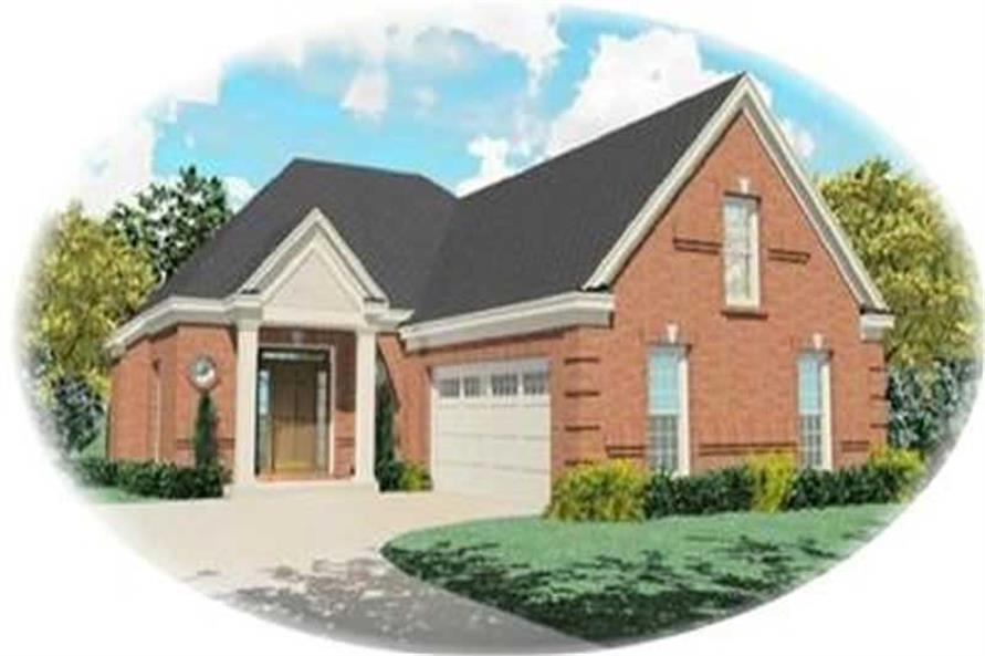 3-Bedroom, 2300 Sq Ft Contemporary House Plan - 170-3360 - Front Exterior