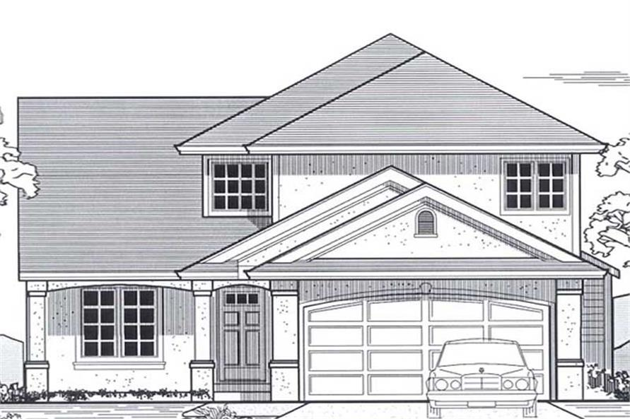Main image for house plan # 12038