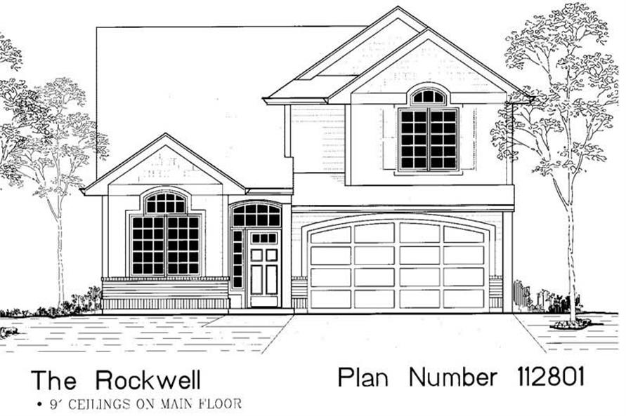 Main image for house plan # 12061