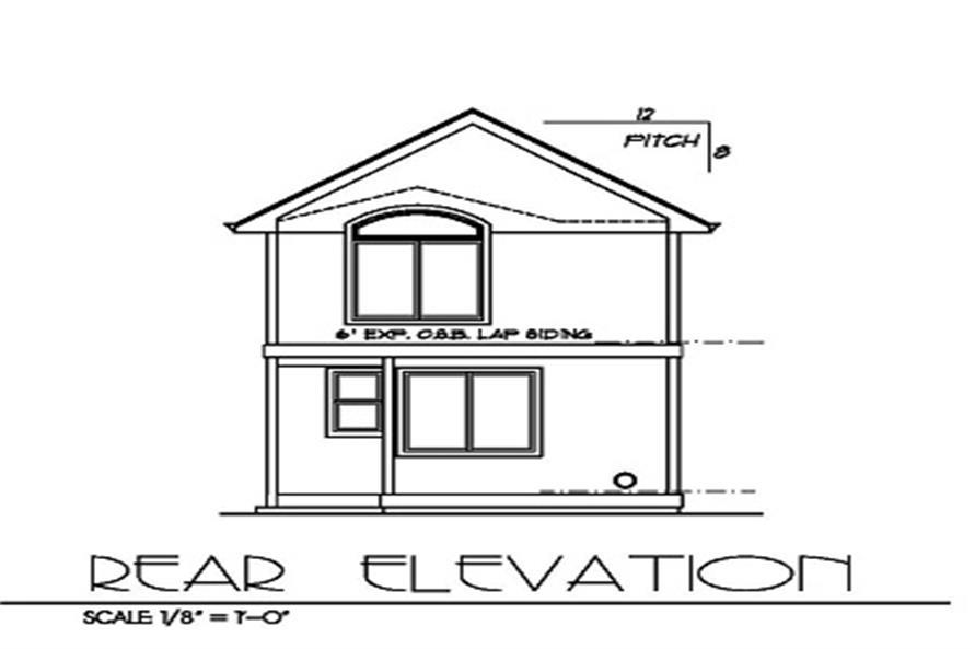 171-1155 house plan rear elevation