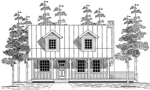 Main image for house plan # 11982
