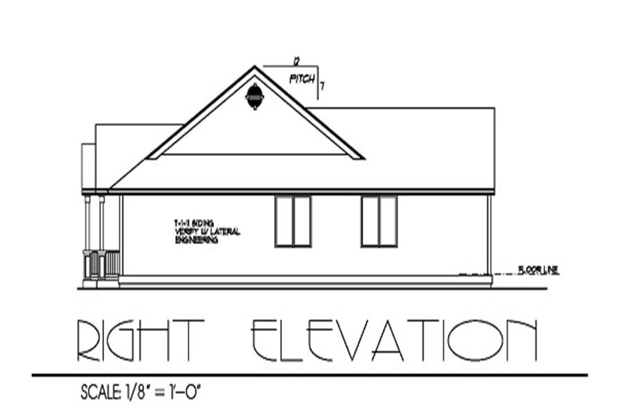 171-1191: Home Plan Right Elevation