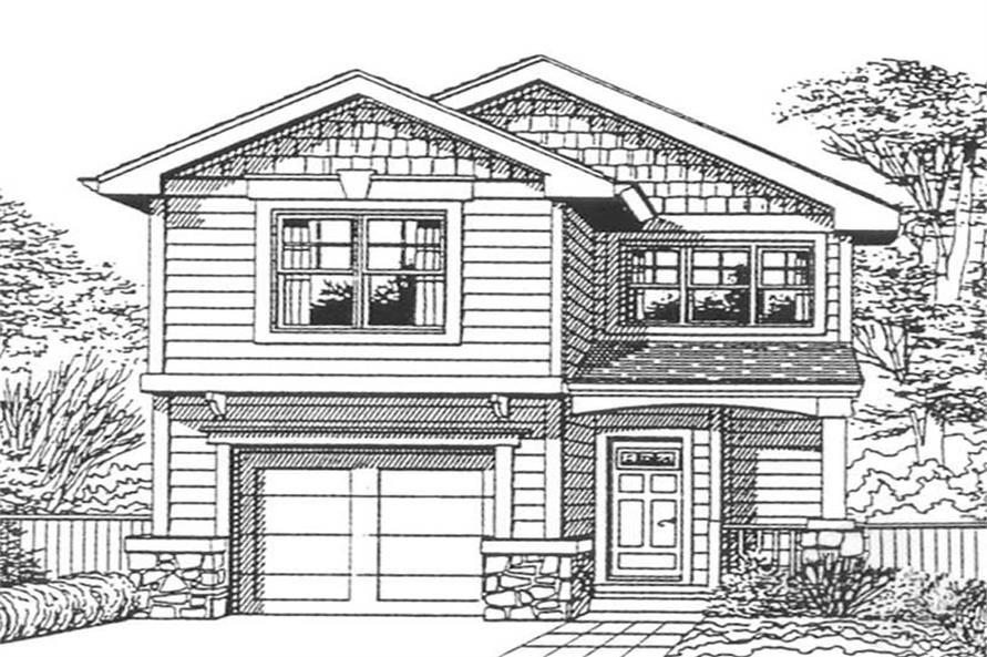Front elevation of Country home (ThePlanCollection: House Plan #171-1203)
