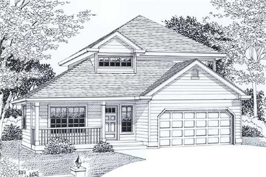 Main image for house plan # 12027