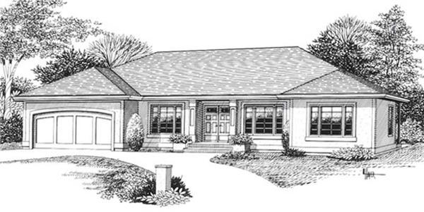 Main image for house plan # 11861