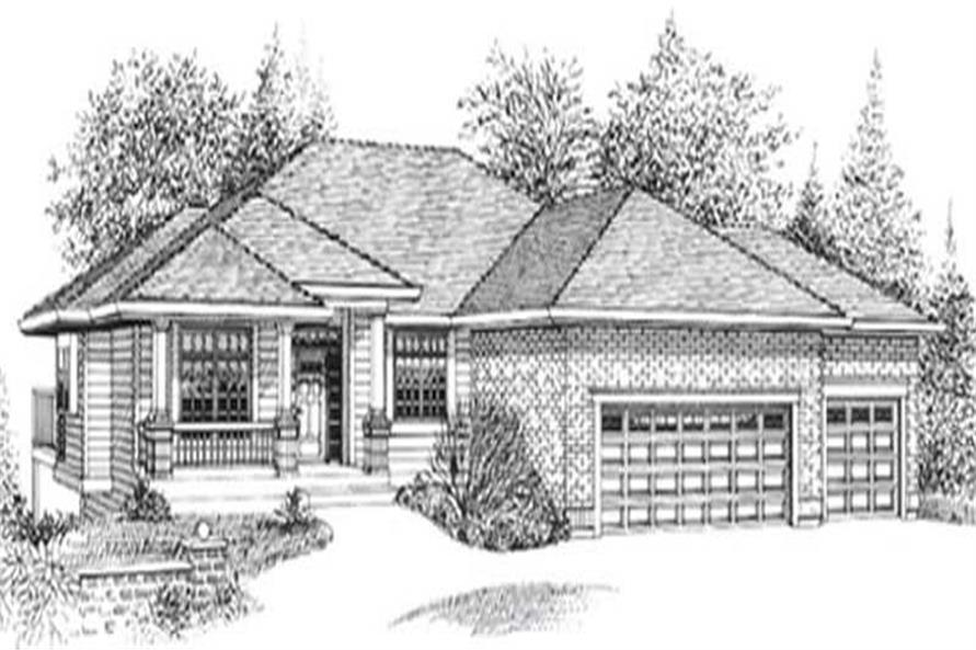 Main image for house plan # 12012