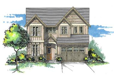 Front elevation of Craftsman home (ThePlanCollection: House Plan #171-1294)