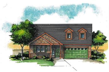 3-Bedroom, 2093 Sq Ft Craftsman Home Plan - 171-1304 - Main Exterior