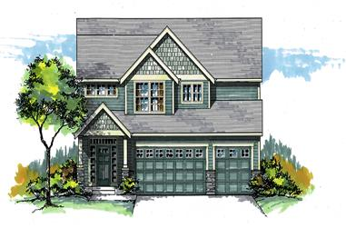 Front elevation of Cottage home (ThePlanCollection: House Plan #171-1308)