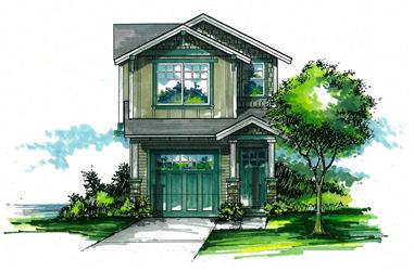 Front elevation of Cottage home (ThePlanCollection: House Plan #171-1311)