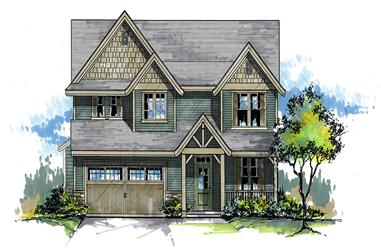 Front elevation of Craftsman home (ThePlanCollection: House Plan #171-1313)