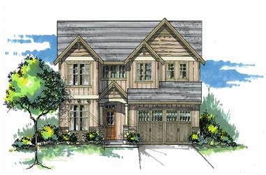 Front elevation of Cottage home (ThePlanCollection: House Plan #171-1314)