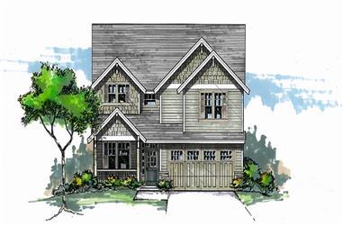 3-Bedroom, 2178 Sq Ft Craftsman Home Plan - 171-1315 - Main Exterior