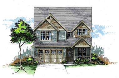 5-Bedroom, 2466 Sq Ft Craftsman Home Plan - 171-1317 - Main Exterior
