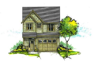Front elevation of Craftsman home (ThePlanCollection: House Plan #171-1320)