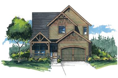 Front elevation of Craftsman home (ThePlanCollection: House Plan #171-1327)