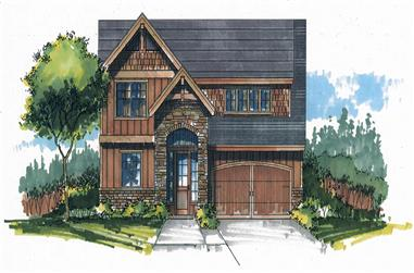 Front elevation of Cottage home (ThePlanCollection: House Plan #171-1328)