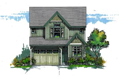 Front elevation of Cottage home (ThePlanCollection: House Plan #171-1330)
