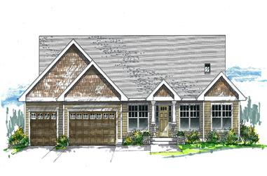 Front elevation of Cottage home (ThePlanCollection: House Plan #171-1331)