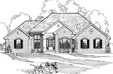 5-Bedroom, 1989 Sq Ft Contemporary House Plan - 172-1002 - Front Exterior