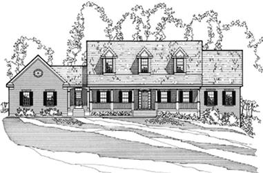 4-Bedroom, 2140 Sq Ft Country House Plan - 172-1005 - Front Exterior