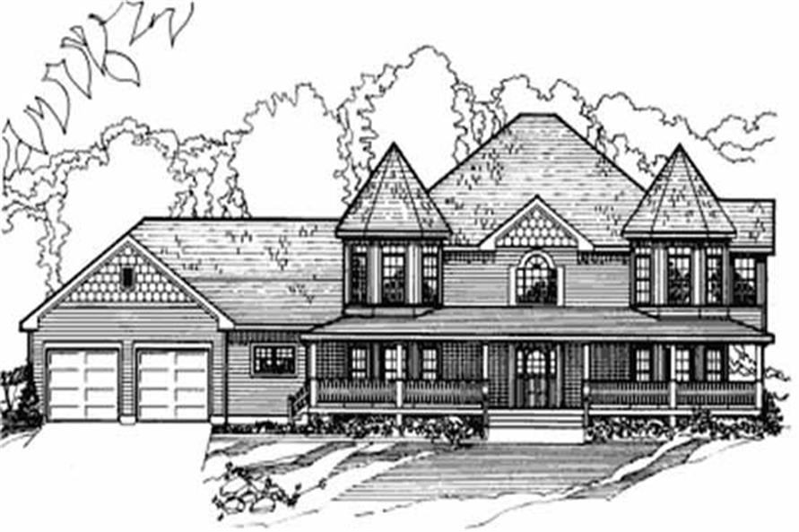 6-Bedroom, 3845 Sq Ft Farmhouse House Plan - 172-1007 - Front Exterior