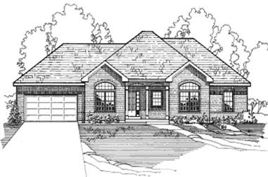 4-Bedroom, 1534 Sq Ft European House Plan - 172-1009 - Front Exterior