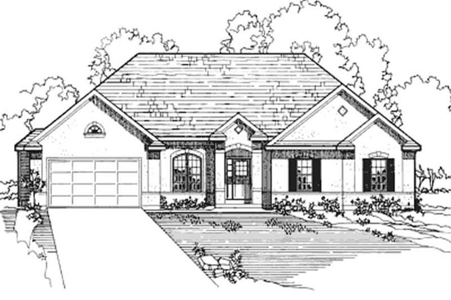 4-Bedroom, 2172 Sq Ft European House Plan - 172-1010 - Front Exterior
